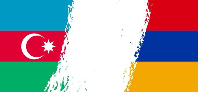 Armenia Azerbaijan flag concept copy space