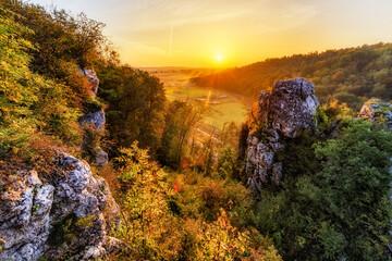skała kmity , wschód słońca, zabierzów
