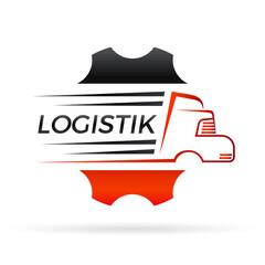 Wall Mural - Logistik / Spedition / LKW-Werstatt - Logo, Icon