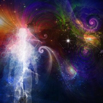 The Spirit or Aura in vivid space. 3D rendering