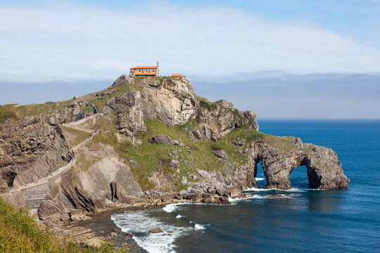 Close view of San Juan de Gaztelugatxe
