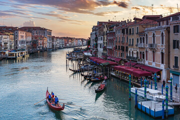 Venedig Canale Grande im Abendrot