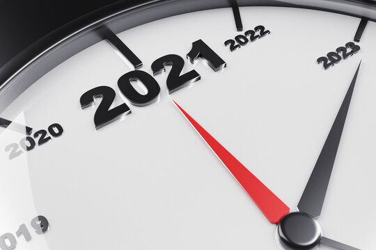 countdown to the new year 2021 with a metaphor of ticking watch. Newyear concept