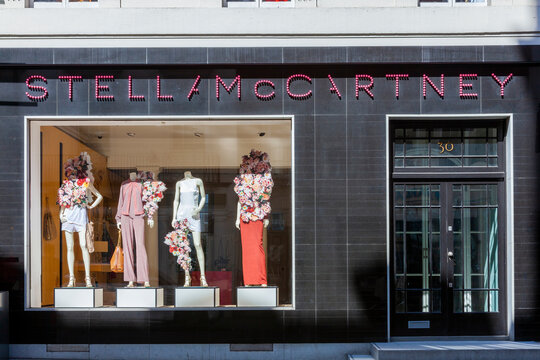 London, UK, April 1, 2012 : Stella McCartney fashion designer shop in Old Bond Street which is an English retail business sustainable luxury clothing design store and a popular travel destination