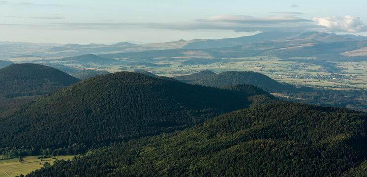 Sleeping Volcanic Landscape with a view on the Puy de la Vache.