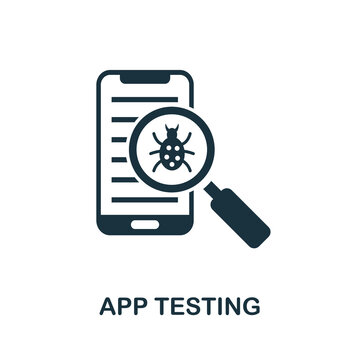 App Testing icon. Simple element from app development collection. Filled App Testing icon for templates, infographics and more