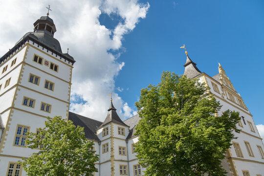 Das Gymnasium Theodorianum in der Altstadt von Paderborn, Nordrhein-Westfalen