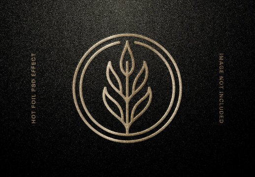 Gold Foil Gold Embossing Logo Mockup