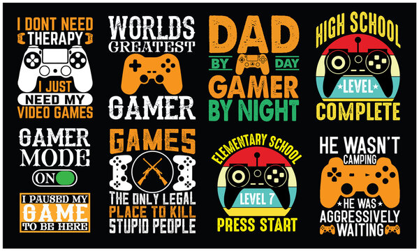 gamer design SVG funny text, on a white background.cutting machines and printable design