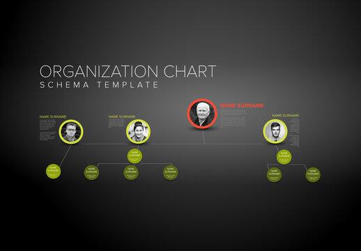 Company Hierarchy Organization Schema Layout with Profiles