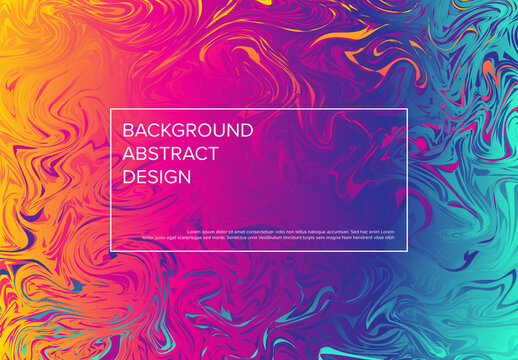 Modern Art Background Layout with Fresh Oil Colors