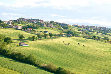Landscapes of Marche , Italy: countryside.