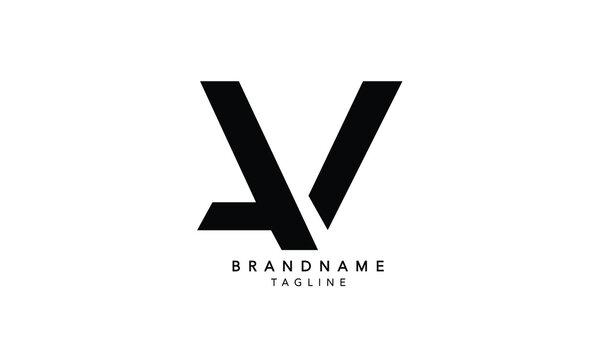 Alphabet letters Initials Monogram logo AV, VA, A and V