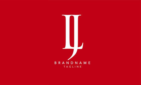 Alphabet letters Initials Monogram logo LJ, JL, L and J