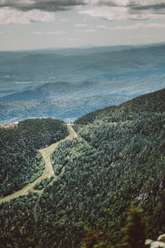 View from the summit of Mount Mansfield in Vermont in September 2020