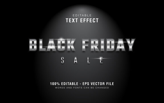 Graphic Style Silver Black Friday Sale Text