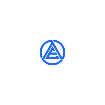 AE triangel logo icon vector