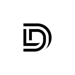 Fototapeta l d ld dl logo design vector symbol graphic idea creative obraz