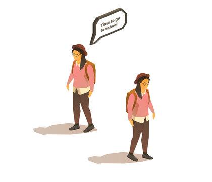Nerd hipster student girl