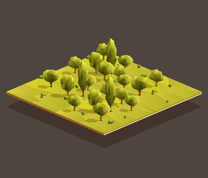Isometric woods area