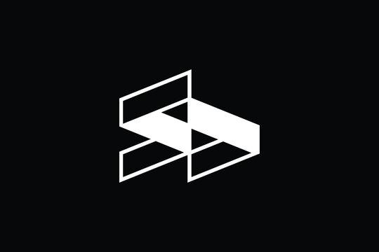 Minimal Innovative Initial SD logo and DS logo. Letter S D DS SD creative elegant Monogram. Premium Business logo icon. White color on black background