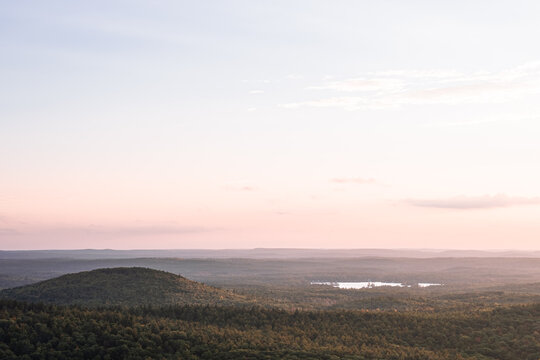 A view of a central Massachusetts sunset from the top of Mount Watatic in Ashburnham.