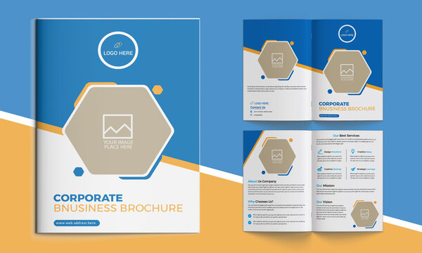 Corporate bifold brochure for your business. Also it's compatible with catalog, company profile, booklet, annual report, company profile, minimalist design and fully editable.