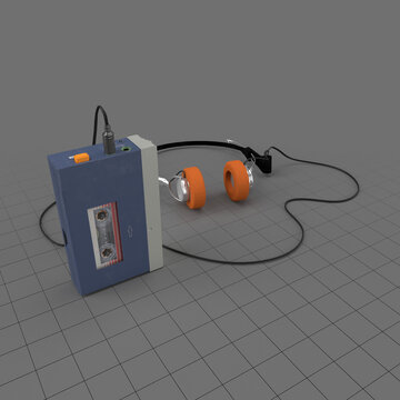 Cassette player with headphones