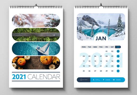 2021 Wall Calendar Layout