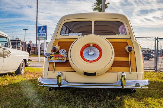 Restored 1949 Ford 2 door Woody Station Wagon