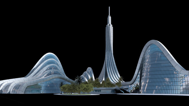 Futuristic city architecture