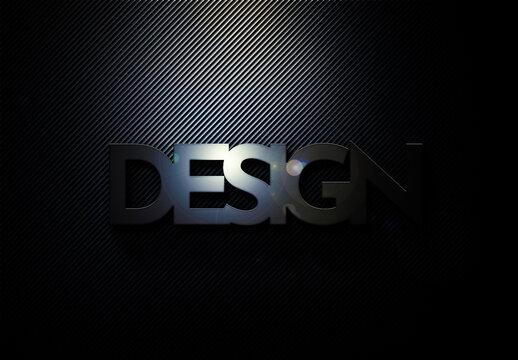 Black Metallic Logo Design Text Effect Mockup