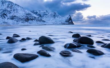 Unstad, Lofoten Archipelago, Nordland county, Norway, Arctic Circle, Europe