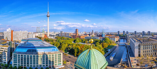 panoramic view at central berlin, germany