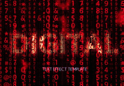 Digital Screen matrix Text Effect