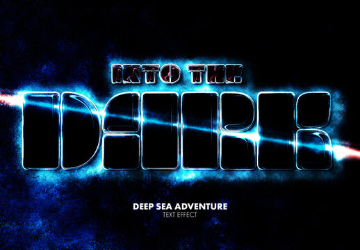Thriller Sci-Fi Movie Title Text Effect Mockup