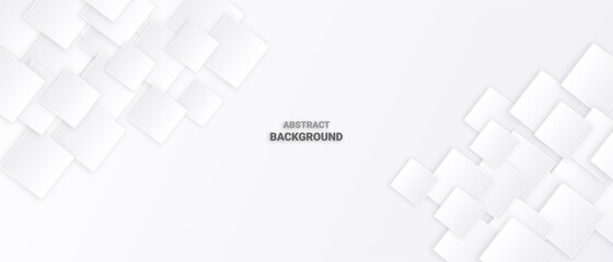 Abstract geometric shape white background