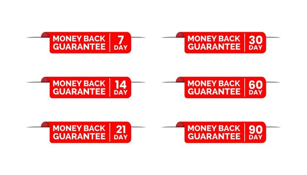Red badge money back guarantee template.
