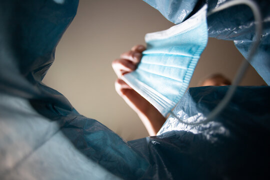 medical mask in bin covid