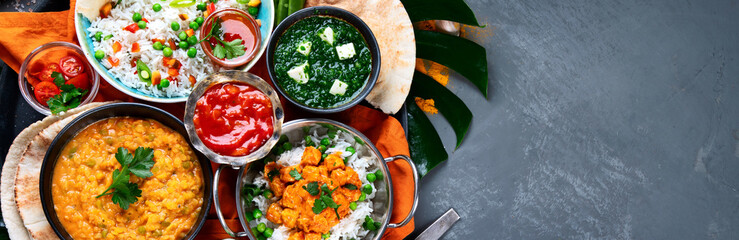 Assortment Indian recipes food various.