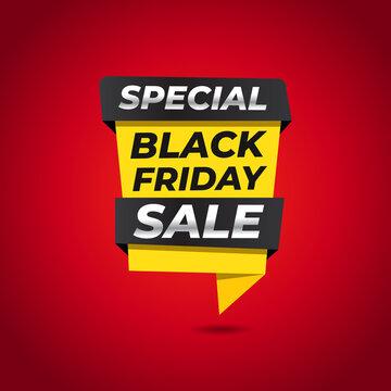 Special Black Friday sale banner vector
