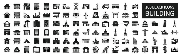 Fototapeta Building icon set 100 around the world obraz