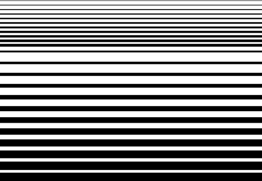 Halftone random horizontal straight parallel lines, stripes pattern and background. Lines vector illustrations. Streaks, strips, hatching and pinstripes element. Liny, lined, striped vector