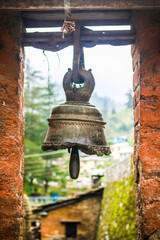 old bell in the town temple