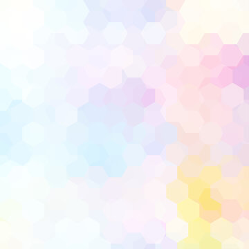 Background of pastel pink, blue, yellow geometric shapes. Colorful mosaic pattern. Vector EPS 10. Vector illustration