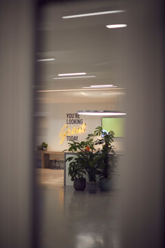 Youre Looking Great Today Neon Sign In Modern Creative Office
