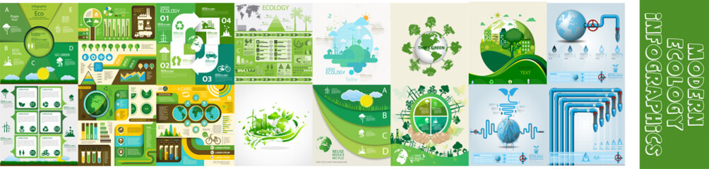 Fototapeta Modern ecology infographics obraz