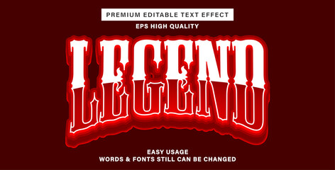 Wall Mural - Text effect style legend