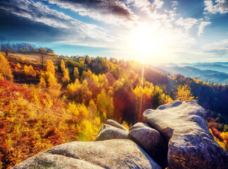 Wall Mural - Majestic autumn landscape