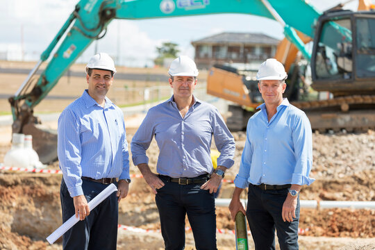 Property developers on-site
